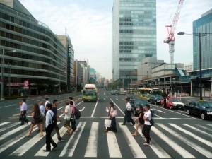 Tokyo z autobusu