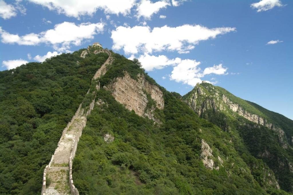 Jiankou - divoká zeď