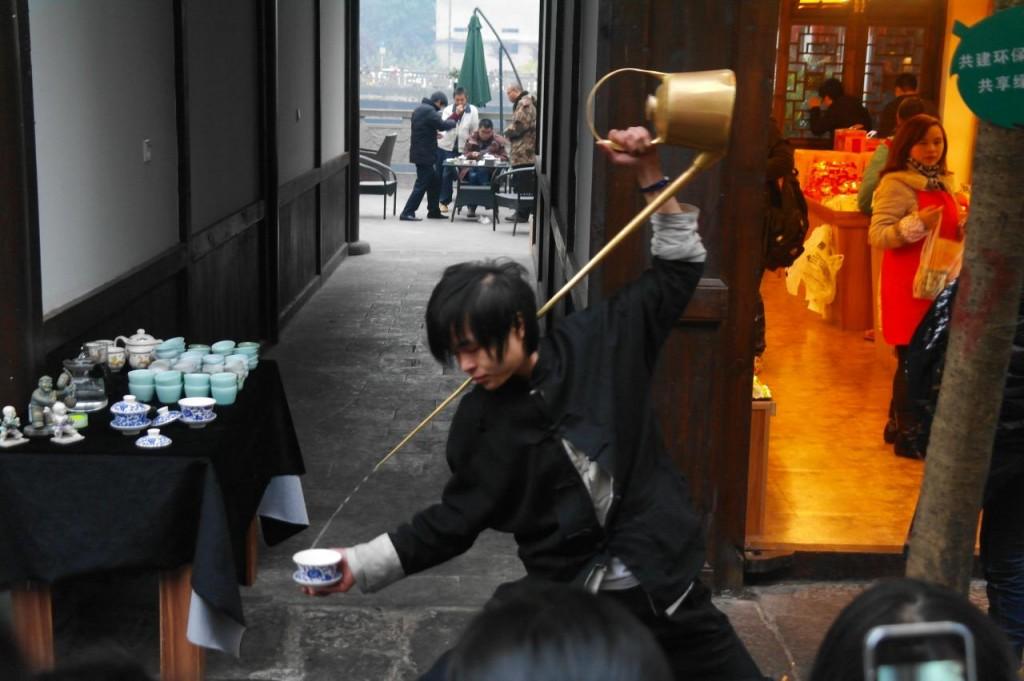 Čajové uměn�  v městečku Ciqikou