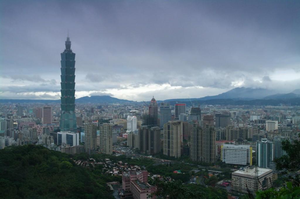 Výhled na Taipei z hory Xiangshan