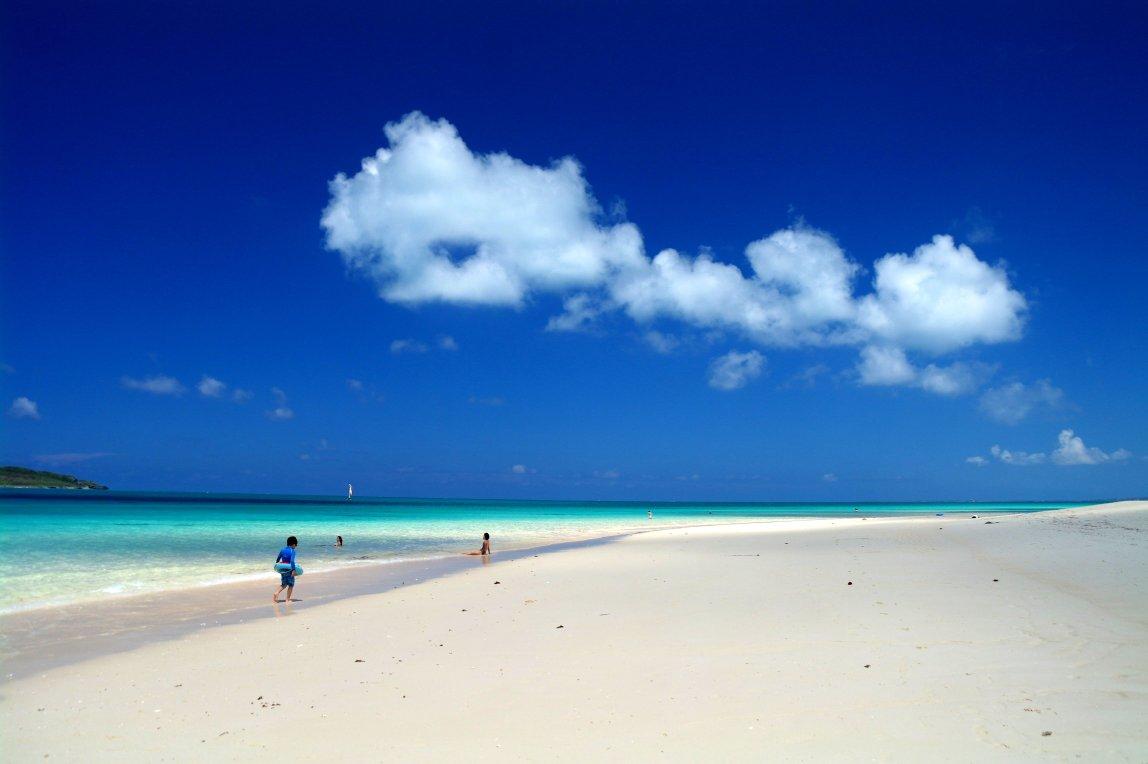 Pláž Maehama na ostrově Miyako
