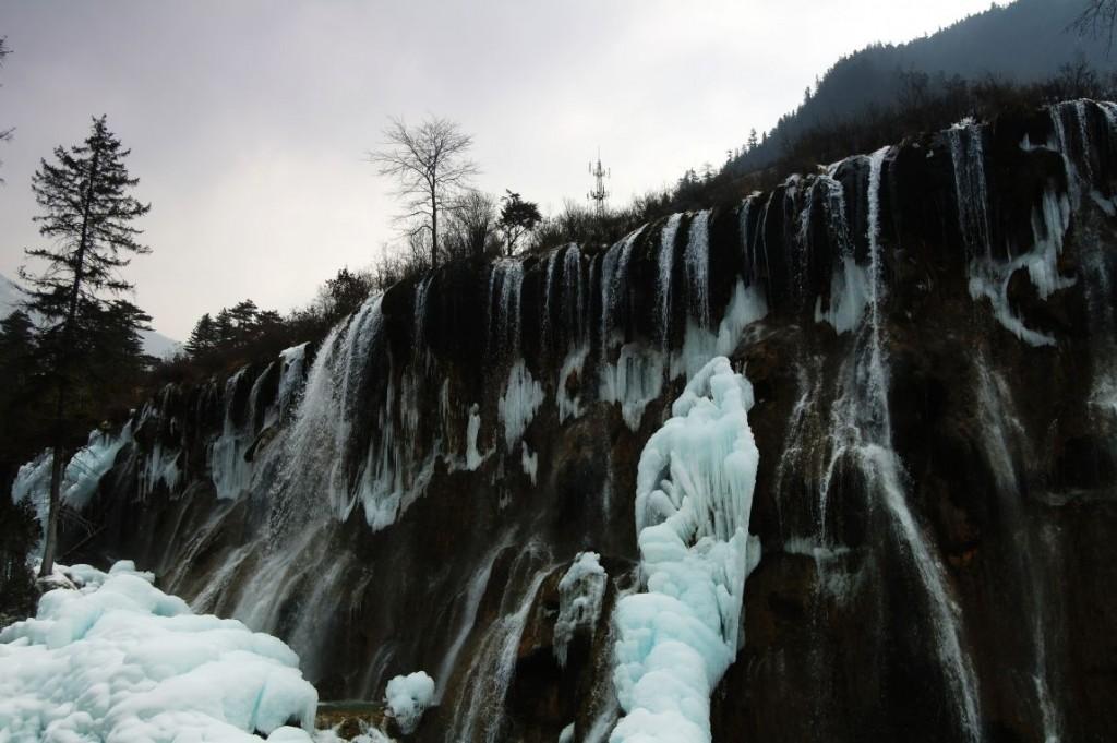 Vodopády Nuorilang v národním parku Jiuzhaigou