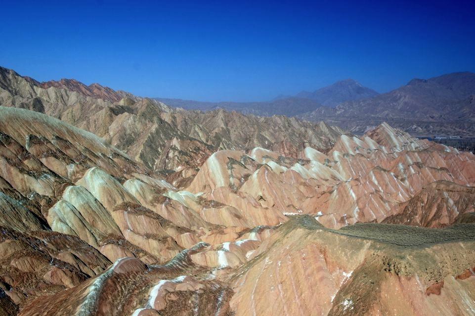 Barevné hory nedaleko města Zhangye