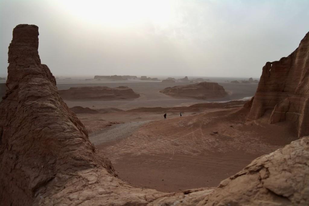 P� skovcové útvary v poušti Dašt-e Lút