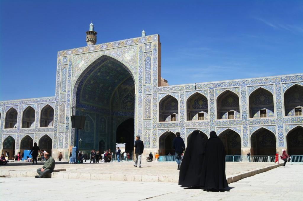 Jedna z mešit na Imámově náměst�