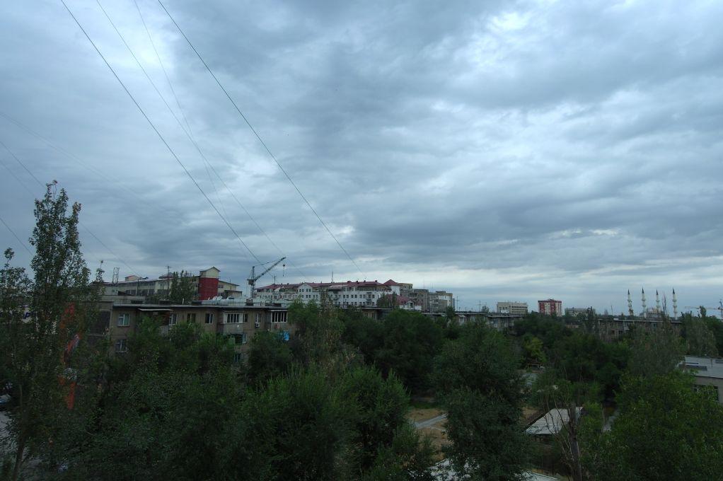 Výhled z hostelu