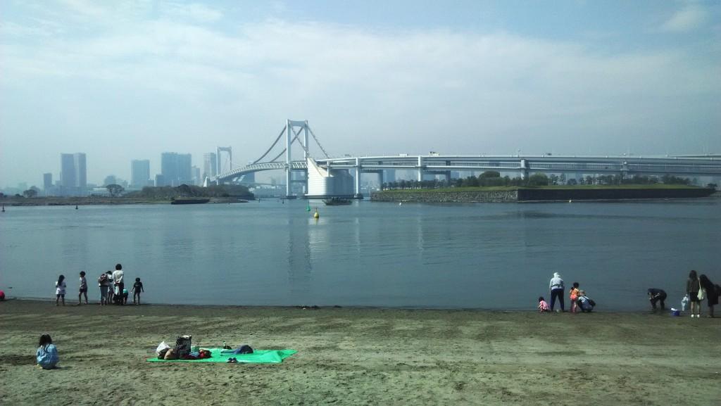 Relax na jediné pláži v Tōkyu