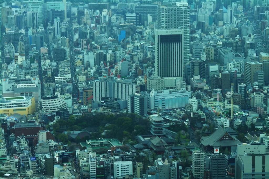 Výhled na Asakusu